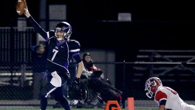 CHCA's Danny Vanatsky runs for a touchdown during the Eagles' 45-28 win over Milton-Union, Saturday, Nov. 12, 2016.