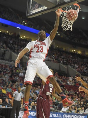 Mar 19, 2015: Arizona Wildcats forward Rondae Hollis-Jefferson (23) dunks the basketball against the Texas Southern Tigers during the first half in the second round of the 2015 NCAA Tournament at Moda Center.