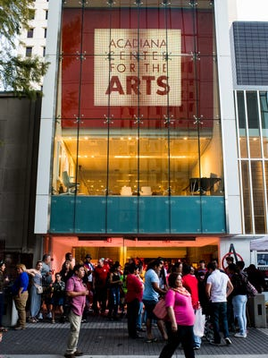 People gather outside the Acadiana Center for the Arts during the ACLA Latin Music Festival. The AcA will host a new play Jan. 12-14.