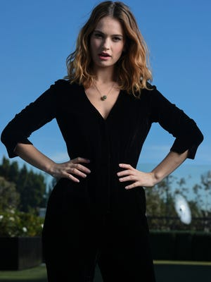 """'Pride and Prejudice and Zombies' star Lily James. """"I'm British, being obsessed with Jane Austen is a birthright,"""" she says."""
