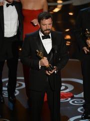 'Argo' director Ben Affleck accepts the Oscar for best