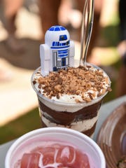 The Jabba juice cocktail and Darth Vader dessert were