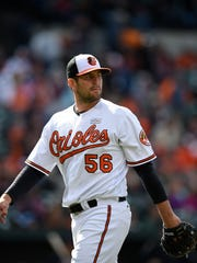 Baltimore pitcher Darren O'Day has been traded to the Atlanta Braves. AP FILE PHOTO