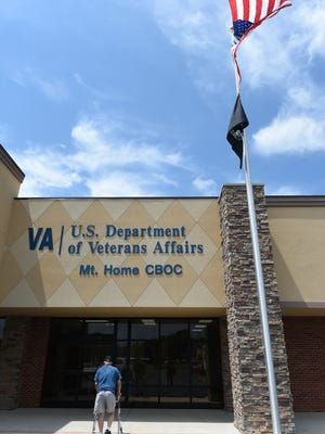 A veteran walks into the Veteran's Administration CBOC (Community Based Outpatient Clinic) at Twin Lakes Plaza in Mountain Home in this file photo.