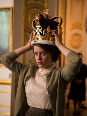 "Claire Foy plays young Queen Elizabeth II in ""The Crown,"" premiering on Netflix Nov. 4, 2016."