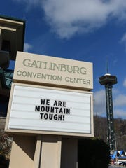 The Gatlinburg Convention Center marquee proclaims