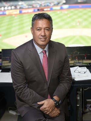 Ron Darling in the SNY booth at Citi Field