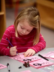 Students attend preschool Wednesday, Feb. 22, 2017 at Western Wayne Elementary School in Cambridge City.