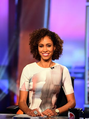 IU grad Sage Steele is set to take on a new roll in ESPN's TV lineup. Here, she's on the set of NBA Saturday Primetime on ABC.