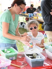 Canton residents Liz Russo and daughter Amelia create