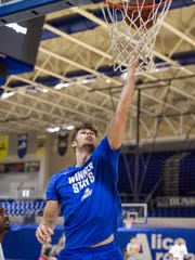 Sophomore transfer Brady Ernst, a 6-10 forward, has impressed FGCU coaches with his ability to fly the floor and soft touch around the basket.