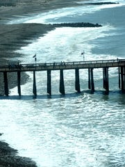 The Ventura Pier was closed for several months after storms in December 2015 caused structural damage with their high surf and 20-foot waves.  Originally built in 1872, the pier now measures 1,535 feet. It was once the longest wooden pier at 1,958 feet.
