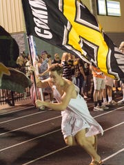 A Hendersonville High School fan during a game against