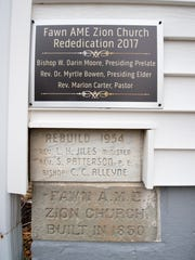 A new plaque was mounted in 2017 commemorating the