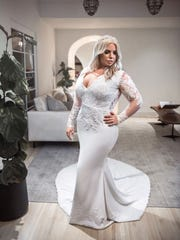 A Glaudi bridal dress designed by Johana Hernandez who will present her collection at Style Fashion Week in Palm Springs in April 2018.