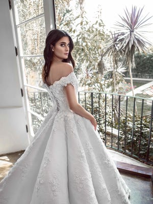 A Glaudi bridal gown designed by Johana Hernandez who will present her collection at Style Fashion Week in Palm Springs in April 2018.