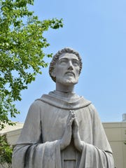 A statue of St. Dominic graces the grounds of the hospital in Jackson which shares its namesake.