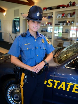 Delaware State Police Trooper Irina Celpan, originally from Moldova, joined the State Police to give back. She is fluent in Russian, Romanian and English.