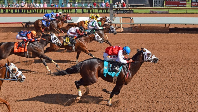 Ec Jet One with jockey Esgar Ramirez aboard won the Grade 1, 440-yard All American Derby on Sunday at Ruidoso Downs Race Track and Casino.