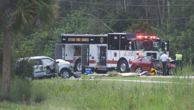 Two-vehicle crash on Corkscrew Road near Wildcat Run Driver closed down the road for several hours Monday night. One person was reported dead and two others taken to area hospitals. The Lee County Sheriff's Office was investigating.
