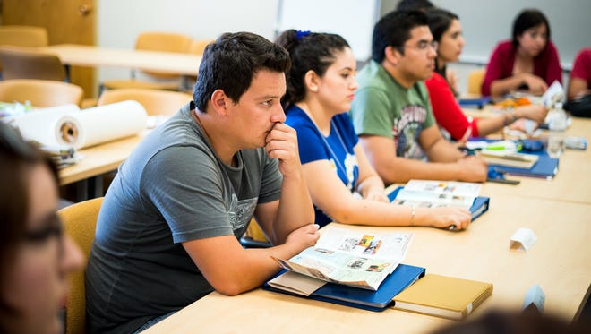 Pictured are students from Mexico during an intensive English course at the main campus.