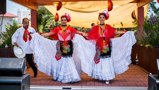 Performers at last year's ¡Fiesta Latina! in Silver City.