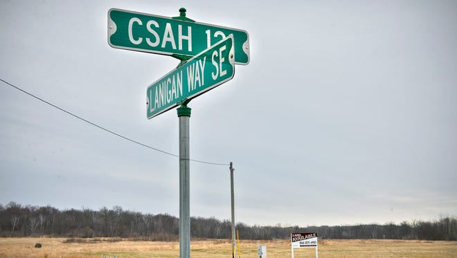 Land for a proposed $16 million to $19 million Country Manor senior living facility sits across from Lanigan Way Southeast and College Avenue South (also known as County Road 121) Tuesday, April 12, in St. Joseph.