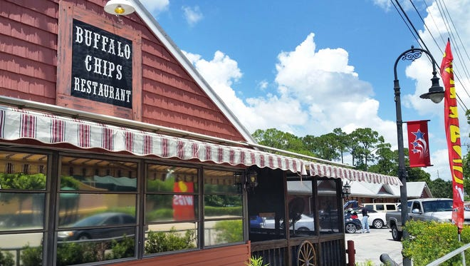 The outside of Buffalo Chips restaurant on Old 41 Road in Bonita Springs is shown, Thursday, Aug. 18.