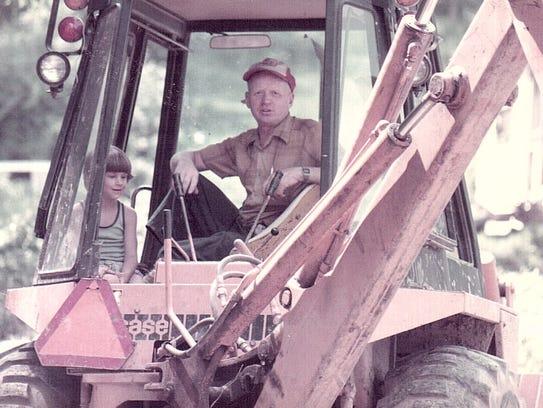 Reynold Burke working in 1984. Burke died after a garage