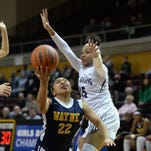 Girls basketball semifinal: East Lansing defeats Wayne Memorial, 60-52