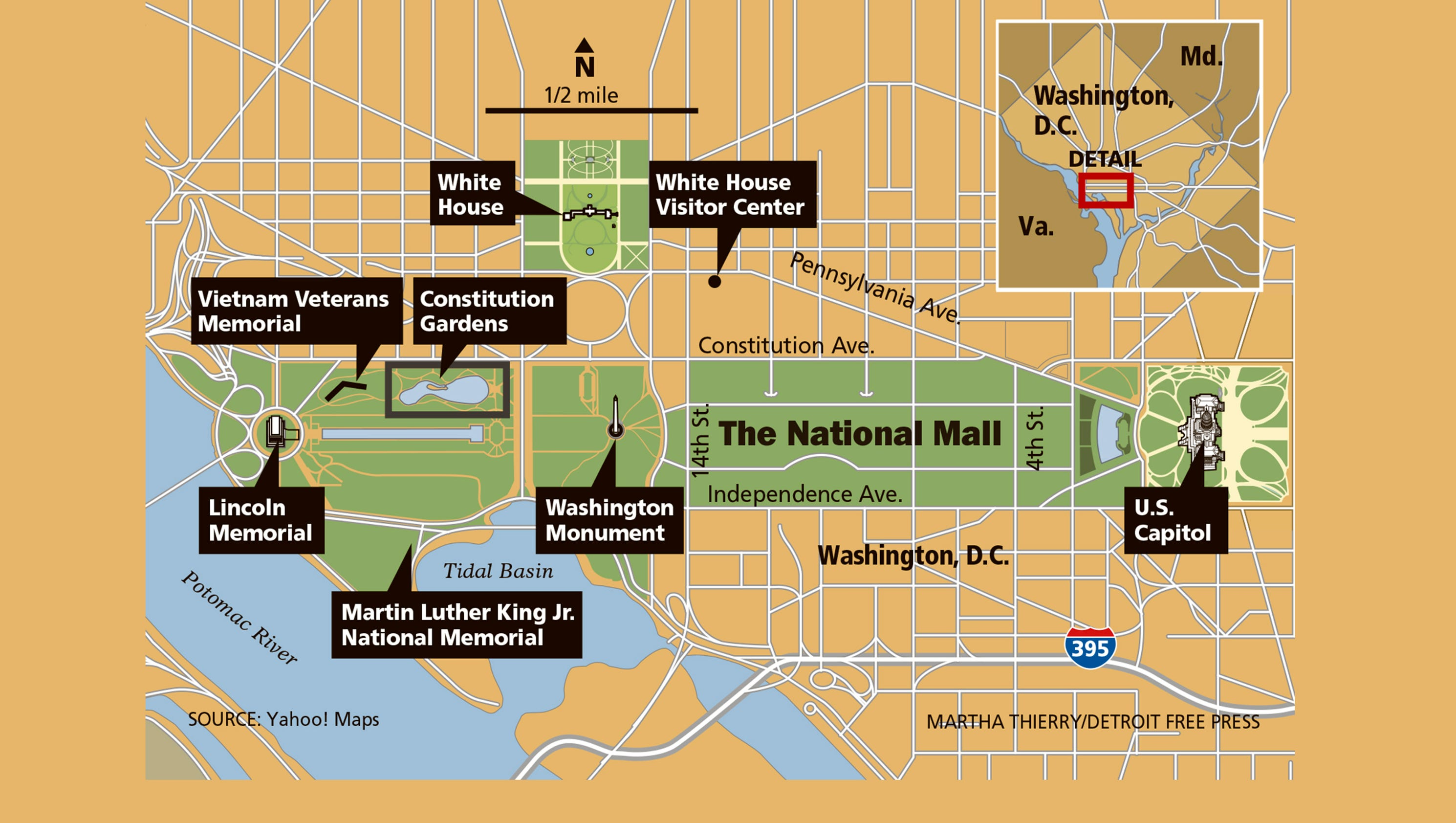 It's just a picture of Genius National Mall Map Printable