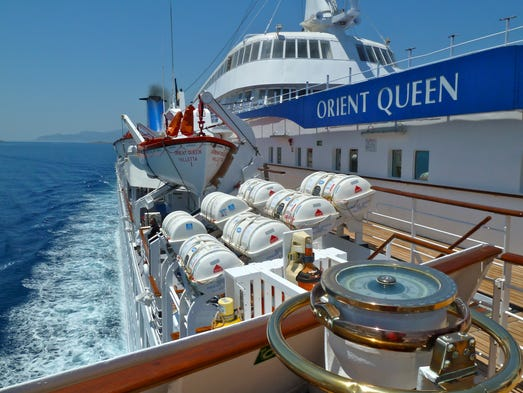 Soon to be renamed Louis Aura, Cyprus-based Louis Hellenic Cruises' sparkling Orient Queen was originally a pioneering, first-generation cruise ship.