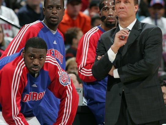 Detroit Pistons Jason Maxiell, Flip Murray, Richard