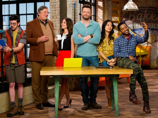 """The Great Indoors"" stars Joel McHale (center) in a"