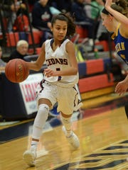 Sophomore guard Giahny Correa averaged 15.4 points in three games for Lebanon last week.