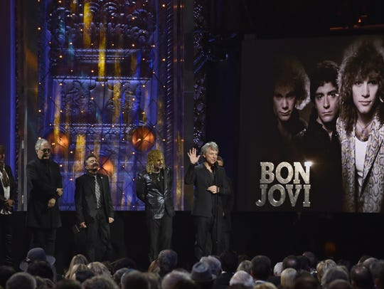 Jon Bon Jovi speaks during the Rock and Roll Hall of