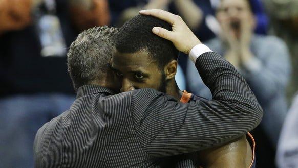 Auburn guard and Montgomery native K.T. Harrell embraces
