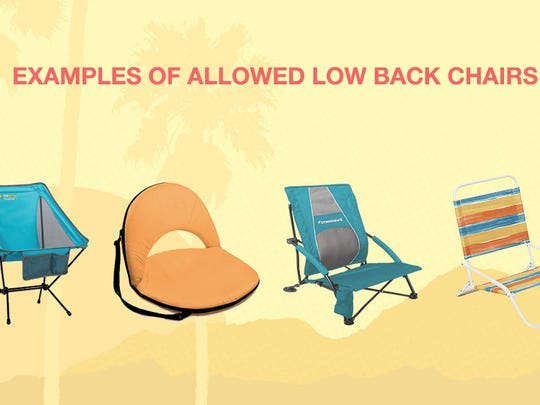 Only low back chairs will be allowed at Desert Trip.