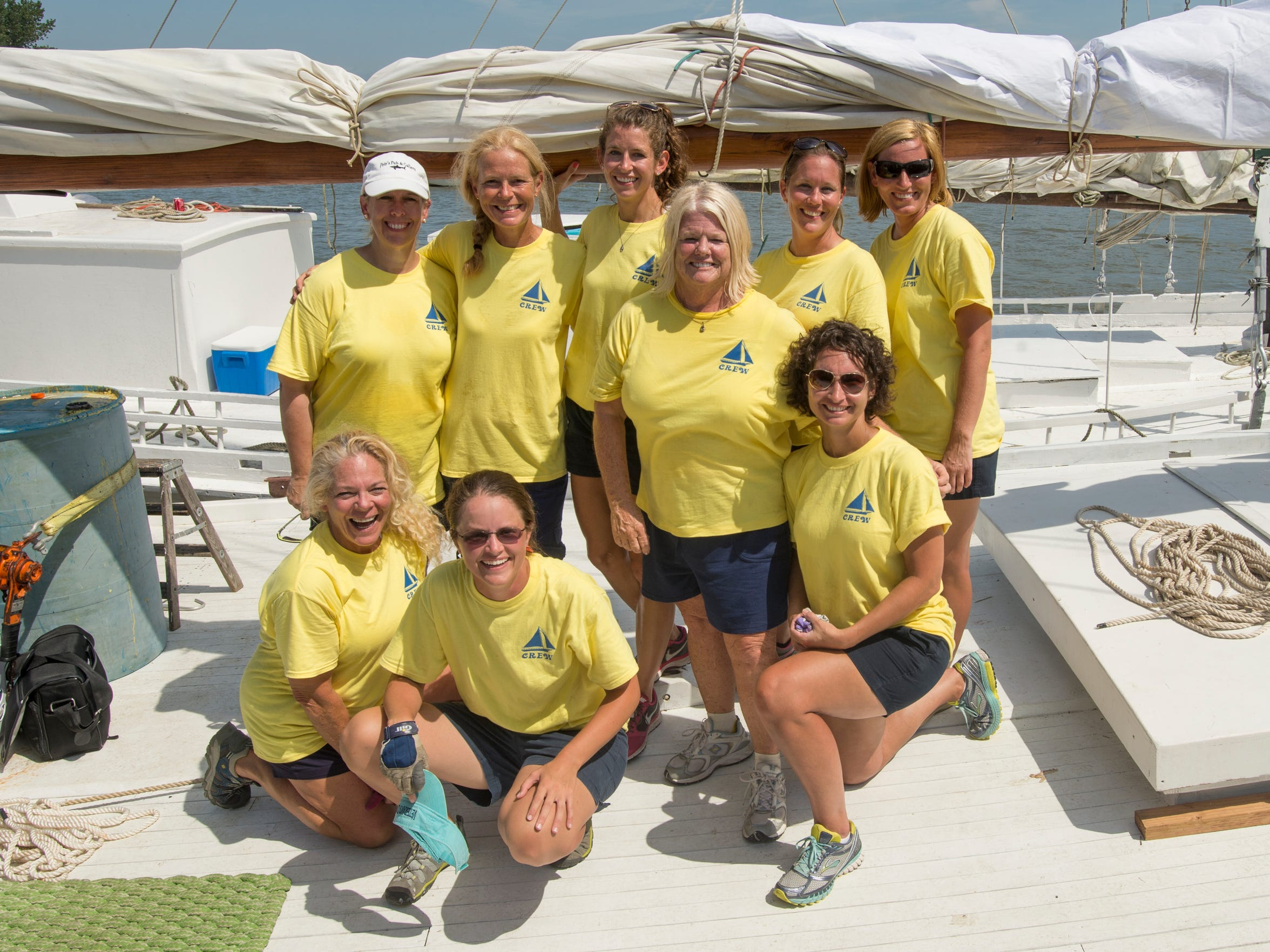 The crew of the skipjack Helen Virginia, owned by Harold
