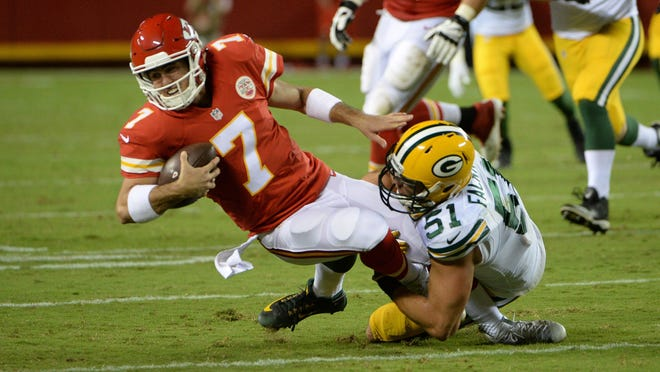 The Chiefs cut former 5th-round draft pick quarterback Aaron Murray to trim their roster to the 53-man limit.