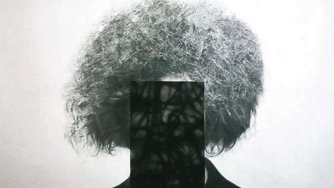 Jim Shaw, Untitled (Obliterated High School Self Portrait), 2004. Graphite on paper.