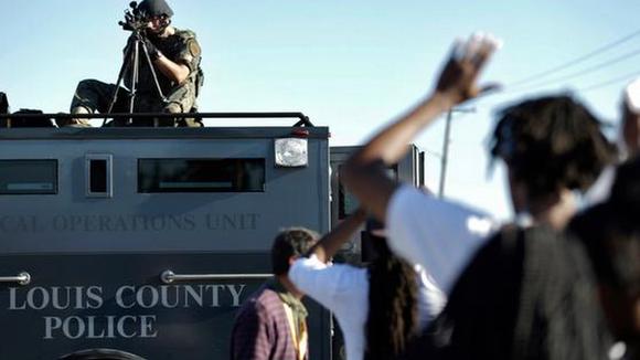 St. Louis County police in Ferguson, Missouri. (AP Photo)