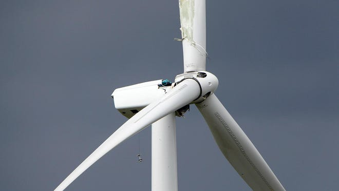 The cause of a broken wind turbine blade and damaged wind generator on a NextEra Wind Energy wind turbine is under investigation. The turbine, located south of Cairo, was damaged the same night as a windstorm. The exact cause of the damage is still under investigation.