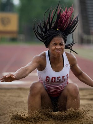 Bosse's Tionne Brigham won three individual events, including a leap of 18-7 in the long jump, at the Mount Vernon Sectional. She was also part of the winning 4x100 relay.