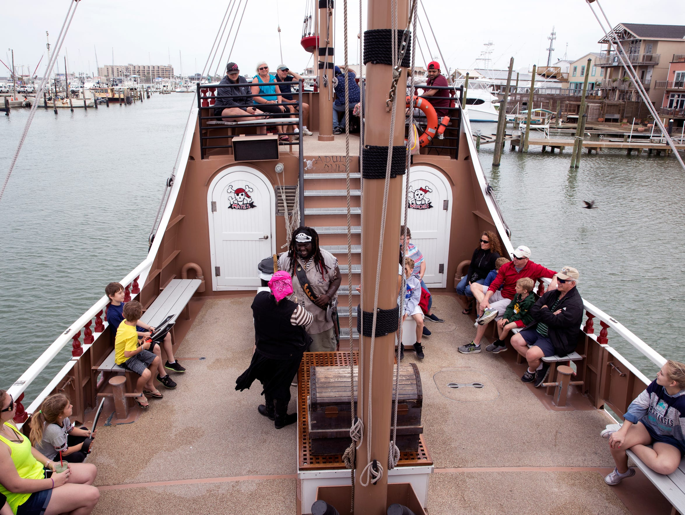 The Red Dragon embarks on a pirate cruise on Sunday,