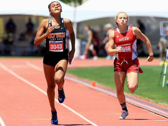 Refugio's Alexa Valenzuela competes in the 2A girls