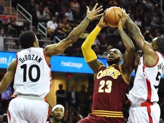 3c0dd3160 NBA  Toronto Raptors at Cleveland Cavaliers