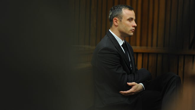Pistorius listens to evidence on April 16.