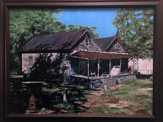 Double Shotgun House by Ron Smith. The artist said
