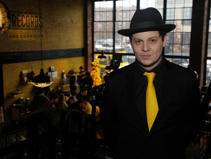 Jack White posed for a photo on the second level of